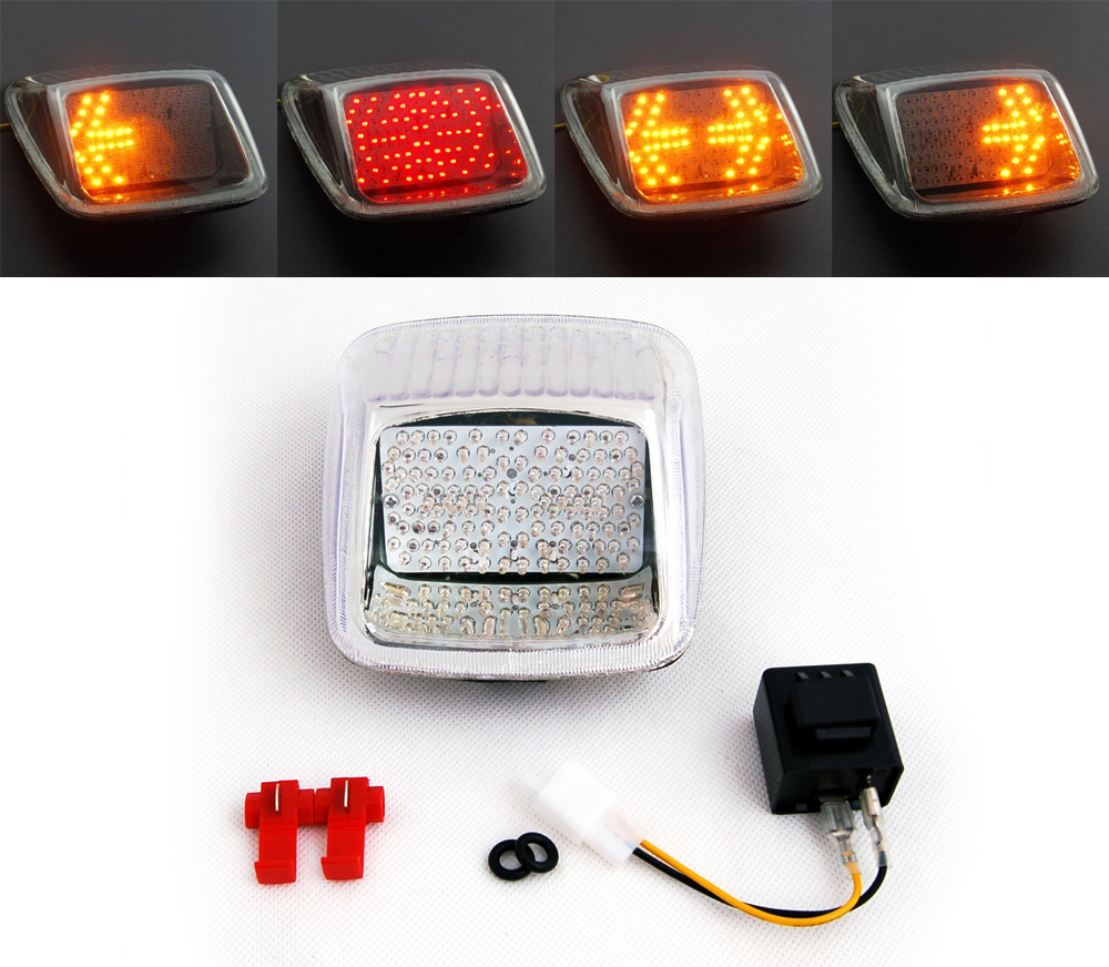 Street Rod Turn Signal Lights : New tail light with turn signals for harley v rod night