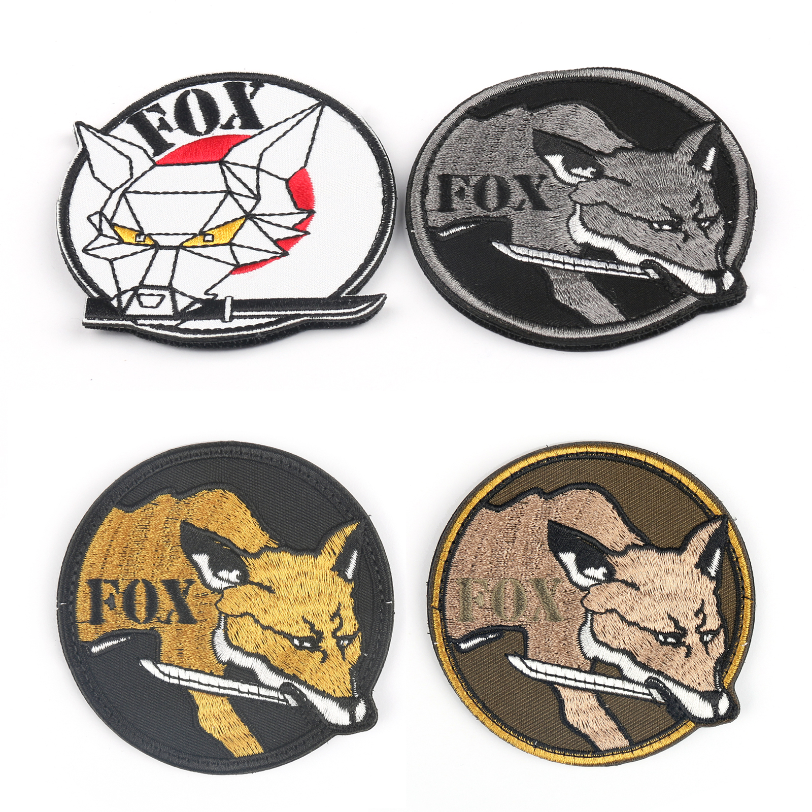 Hook Patch 1X Fox Hound Special Force Group 3D Rubber .Metal Gear Solid