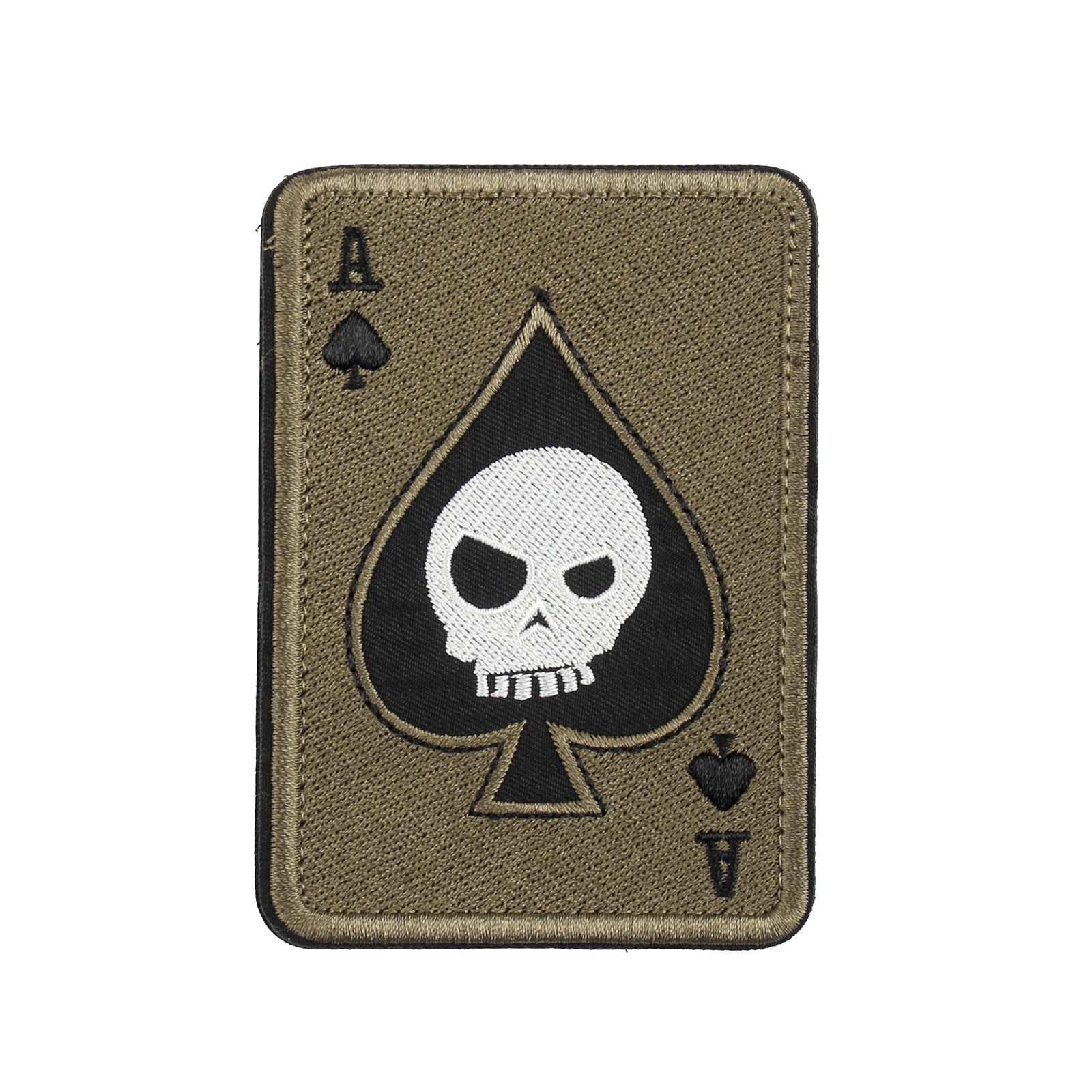 Ace Of Spades Death Skull Card USA Army Tactical Morale